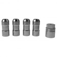 08-14 Enclave; 07-14 Cadillac, Chevy, GMC Multifit Chrome Lug Nut Wheel Lock Kit (GM)
