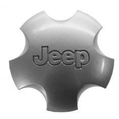 01-04 Jeep Grand Cherokee (w/Wheel Code WFK) Domed 5 Inch Silver Center Cap (Mopar)