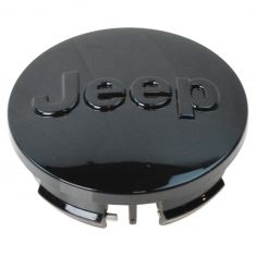 07-15 Compass, Patriot; 11-15 Gr Cher, Wrangler (w/17-20 In Whl) Black ~Jeep~ Logoed Center Cap (MP)