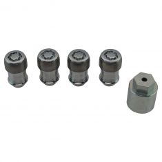 11-16 Durango; 11-16 Gr Chrke; 12-16 Ram 1500; 14-16 2500, 3500 Chrome Lck Lug Nuts w/Mopar Key (MP)