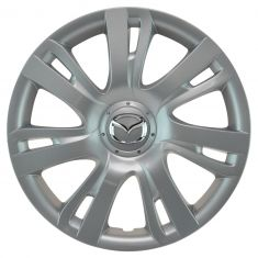11-14 Mazda 2 (7 Spoke) ~Mazda~ Logoed Silver & Chrome Hubcap Wheel Cover (Mazda)