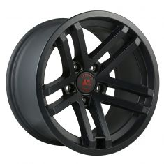 Jesse Spade wheel, 17X9, Black Satin, 07-14 Jeep Wrangler