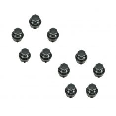 Lug Nut Cap Black (Set of 10)