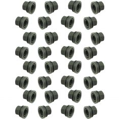 99-04 Ford Pickup; 00-02 Expedition, Navigator (M14-2.0 x 22.6mm (21mm Hex)) Blk Lug Nut (SET of 32)