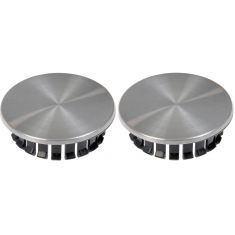 05-12 Chevy; 05-10 Pontiac Multifit (w/16-18 inch Alum Whl) Brushed Alum Center Cap (Dorman) Pair