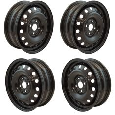 12-17 Toyota Prius C,Yaris  (15 x 5 in -4 Bolt 100mm Bolt Circle) Steel Wheel (Dorman) Set of 4