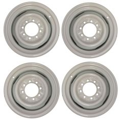 08-14 Ford E150, E250; 08-17 E350, E450 SRW 16x7 Gray 4 Slot 8 Lug Steel Wheel Set of 4 (Dorman)