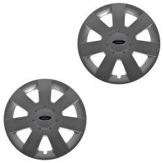 06-09 Ford Fusion 7 Spoke Painted Silver Hub Cap Wheel Cover Pair (Ford)