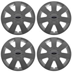 06-09 Ford Fusion 7 Spoke Painted Silver Hub Cap Wheel Cover Set (Ford)