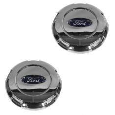 03-14 Expedition; 04-08 F150 New Body (17 Inch Alum Whl) Ford Logo Chrome Center Cap Pair (Ford)