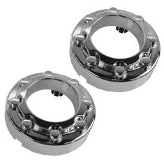 05-10 Ford F250SD-F550SD (w/4WD & 8 Lug Wheels) Front Wheel Chrome Center Cap Pair (Ford)