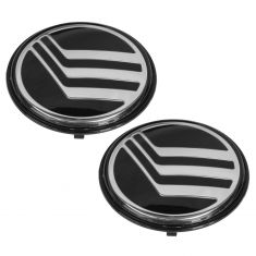 92-06 Mercury Grand Marquis Logoed Hub Cap Center Emblem Pair (Ford)