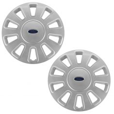 06-11 Ford Crown Victoria (w/17 Inch Wheel) Painted 10 Spoke Wheel Cover Hub Cap Pair (Ford)