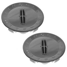 07-10 Lincoln MKX; 09-11 Town Car (w/18 or 20 In Alum Whl) Chrome Center Cap Pair (Ford)
