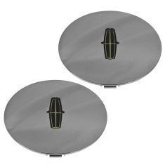 98-02 Lincoln Town Car Cartier Edtn (w/16 In Alum Wheel) Chrome Center Cap Pair (Ford)