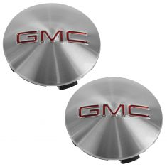 07-15 GMC Acadia (18, 19, 20 x 7 1/2 In Al Whl - RPO PZ3, QT5, RZA) ~GMC~ Logo Center Cap Pair (GM)