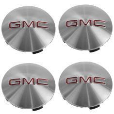 07-15 GMC Acadia (18, 19, 20 x 7 1/2 In Al Whl - RPO PZ3, QT5, RZA) ~GMC~ Logo Center Cap Set (GM)
