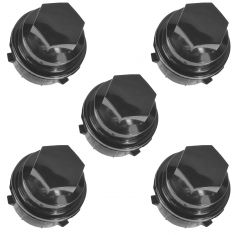 02-09 Buick; 04-15 Chevy; 98-02 Olds; 99-10 Pontiac Multifit Black Lug Nut Cap Cover Set of 5 (GM)