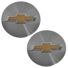 11-15 Vlt, Crze; 14-15 Impla; 13-15 Malibu; 13-14 Mlbu Hyb Gold Bowtie Center Cap Pair (GM)