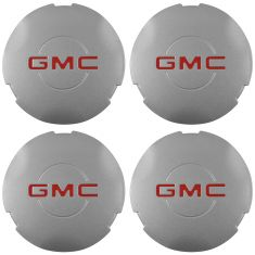 03-04 Savana; 99-05 Sierra 1500; 00 Yukon 1500 w/16 In Wheel ~GMC~ Logo Center Cap Set of 4 (GM)