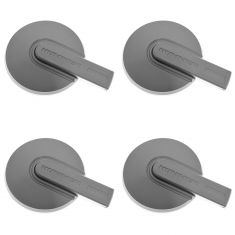06-10 Hummer H3 (w/7 Double Spoke Wheel) Satin Silver ~HUMMER~ Logoed Center Cap Set of 4 (GM)