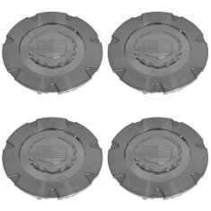 07-14 Cadillac Escalade, ESV, EXT (w/18 In Wheel) Chrome ~Cadillac~ Logo Center Cap Set of 4 (GM)