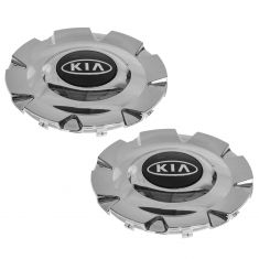 04-06 Kia Magentis, Optima (w/16 Inch, 8 Spoke AL Whl) Chrome ~Kia~ Logoed Wheel Hub cntr Pair (Kia)
