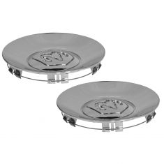 02-04 Dodge Dakota; 02-03 Durango (w/17 Inch Wheel) Rams Head Chrome Center Cap Pair (Mopar)