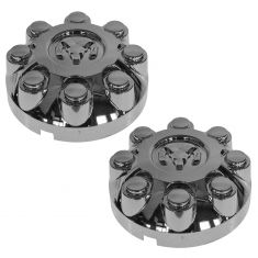 03-10 Ram 2500 3500; 11-14 Ram 2500, 3500 (w/17 Inch Wheel) Rams Head Chrome Center Cap Pair (Mopar)