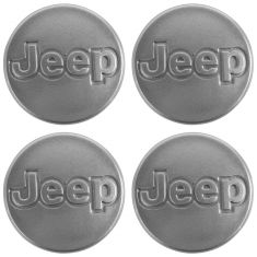 99-06 Wrangler (w/15 x7 In, 5 Spoke Al Whl) Metalic Silver Center Cap Kit (Set of 4) (Mopar)