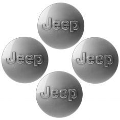 11-15 Jeep Wrangler, Gr Cherokee (Whl Code: WFY, WPF, WPJ) Gray Jeep Logoed Center Cap Set of 4(MP)