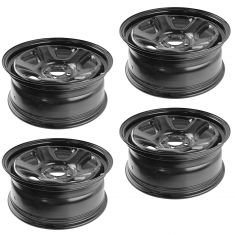 06-15 Charger, 300; 07-08 Magnum; 08-14 Challenger (18 X 7.5 In) Blk Police Stl Wheel (Set of 4)(MP)