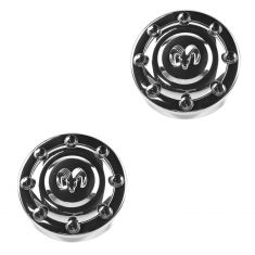 94-02 Dodge Ram 3500 (w/SRW & 16 Inch Whl) Front Wheel Chrome Center Cap Pair (Mopar)