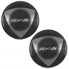 04-11 Mazda RX-8 Alloy Wheel Center Cap (w/Rotary Emblem) Pair (Mazda)