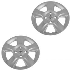 07-09 Nissan Sentra (w/16 Inch Wheel) Logoed 5 Spoke Silver Wheel Cover Hub Cap Pair (Nissan)