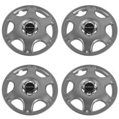 97-01 Subaru Impreza Outback (w/15 Inch Whl) Logoed 6 Spoke Non Locking Hub Cap Set of 4 (Subaru)