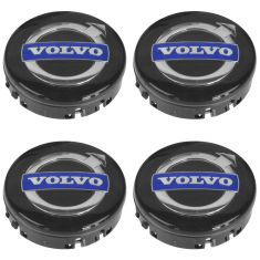 03-15 Volvo C3,0 C70, S60, S80, V70, XC60, XC70, XC90 ~Volvo~ Logoed Center Cap (Set of 4) Volvo