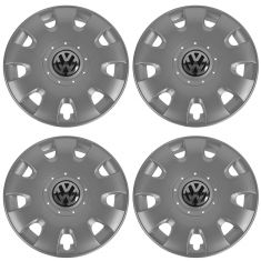 06-09 VW Rab; (08-09 Golf; 05-10 Jetta w/8th Vin Digit K); 15 In, 9 Slot Hub Cap Set 4  (Volkswagen)