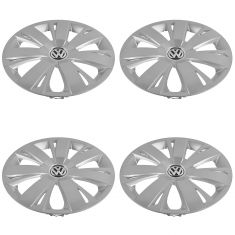 11 VW Jetta (exc City); 12-14 Jetta 16 Inch, 7 Spoke Wheel Cover Hub Cap Set of 4  (Volkswagen)