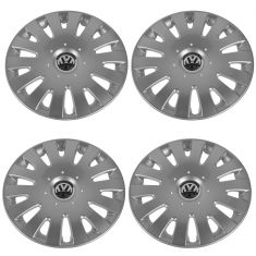 05-09 VW Jetta (8th VIN Digit K & w/16 In Wheel) 14 Spoke Hub Cap Cover Set(Volkswagen)