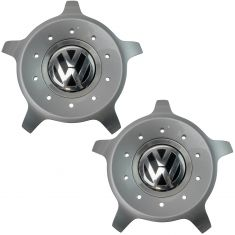 98-10 VW Beetle (w/17x7in 10 Spoke Seattle Aluminum Wheel) ~VW~ Logoed Center Cap Pair (VW)