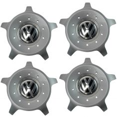 98-10 VW Beetle (w/17x7in 10 Spoke Seattle Aluminum Wheel) ~VW~ Logoed Center Cap Set of 4 (VW)