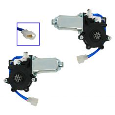 98-02 Forester Fr; 03-08 Forester Rear; 02-07 Impreza SW Fr Power Window Motor Pair