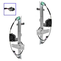 01-04 Grand Cherokee Front Door Window Regulator w/Motor Pair
