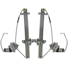 91-98 Suzuki Sidekick 4dr Power Window Regulator w/Mtr Rear Pair