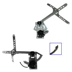1985-05 Chevy Astro GMC Safari Power Window Regulator With Motor Front Pair