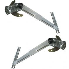 89-95 Toyota Pickup 4Runner Window Regulator Manual Pair (with vent window)