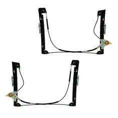 (6/05)-08 Mini Cooper Power Window Regulator w/o Motor PAIR