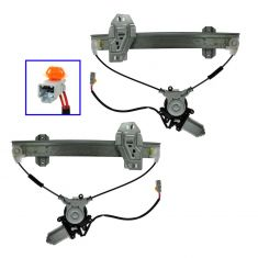98-02 Acura RL Power Window Regulator w/Motor PAIR