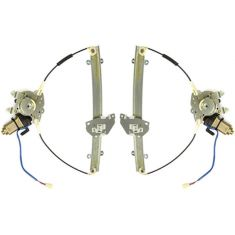 1997-02 Mitsubishi Mirage 2dr Power Window Regulator With Motor PAIR